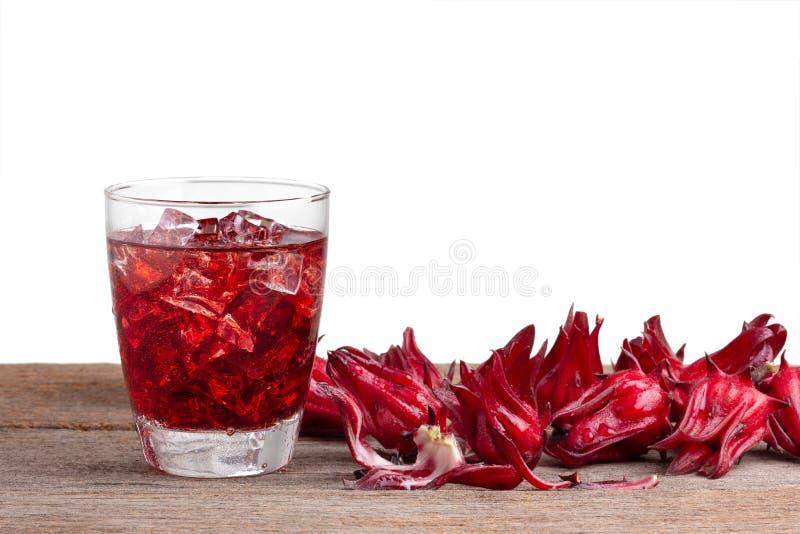 Mocktail Roselle выпивает с плодами roselle или sabdariff гибискуса стоковые фото