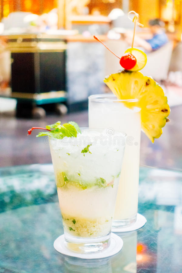Mocktails玻璃 库存图片