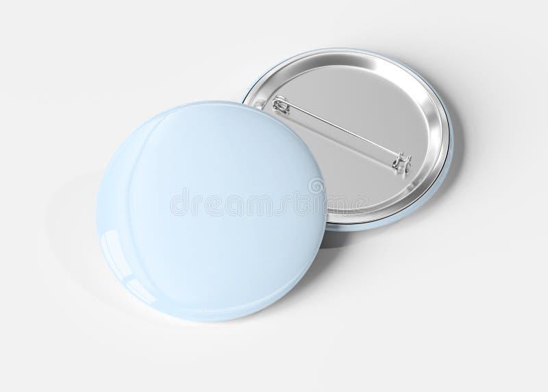 Badge on white background 3D rendering. A mockup of a badge on white background 3D rendering royalty free illustration