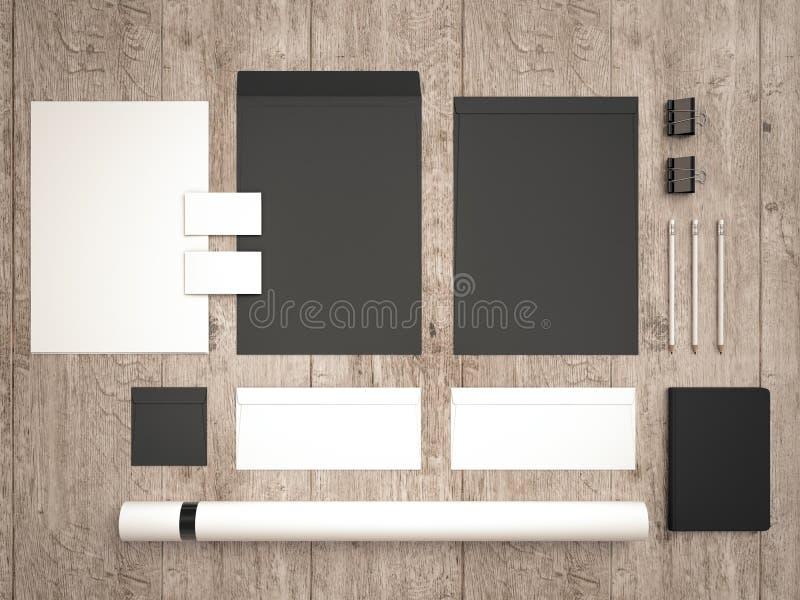 Mockup biznesu szablon Set elementy dla oznakować tożsamość obraz stock