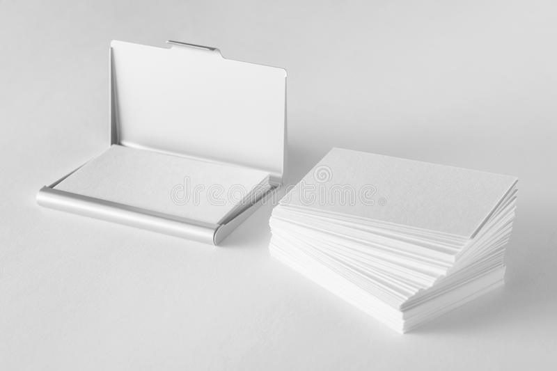Mockup of blank business cards stack and cardholder stock download mockup of blank business cards stack and cardholder stock illustration illustration of folded colourmoves