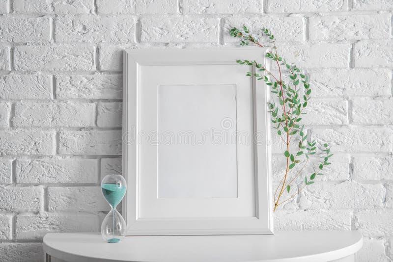 Mockup of blank frame stock image