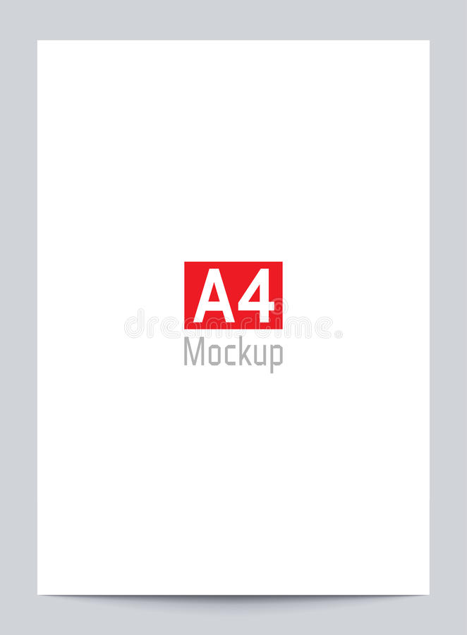 Download Mockup Blank White Paper Page A4 Size With Shadow Vector Flyer Mock