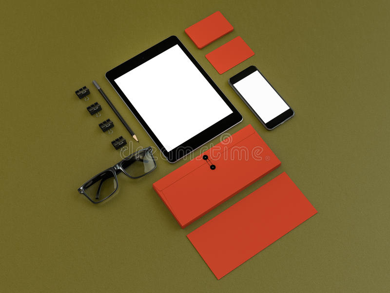 Mockup business template. stock photos