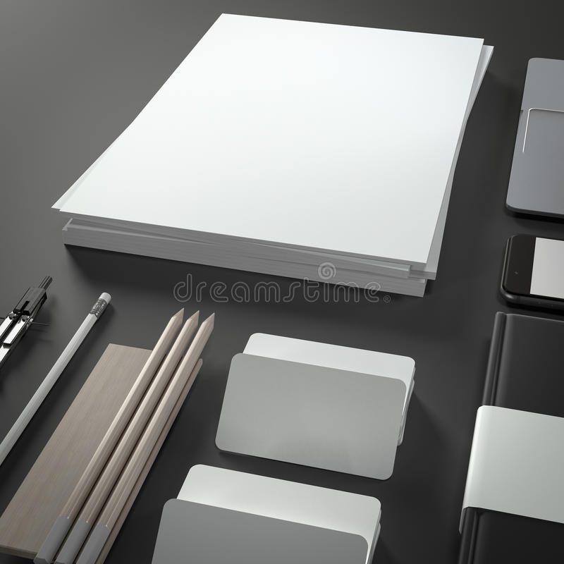 Mockup business template. High resolution. 3D render stock photography