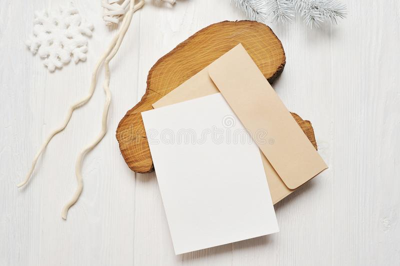 Mockup christmas greeting card letter in envelope with white tree download mockup christmas greeting card letter in envelope with white tree flatlay on a white m4hsunfo