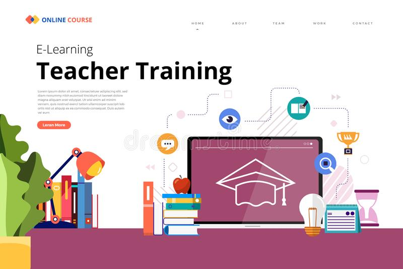 Online Course technology skill stock illustration