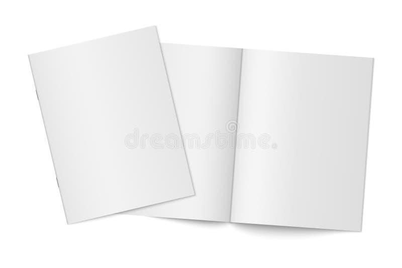 Mockup dwa cienkiej książki z miękką pokrywą odizolowywającą obraz royalty free