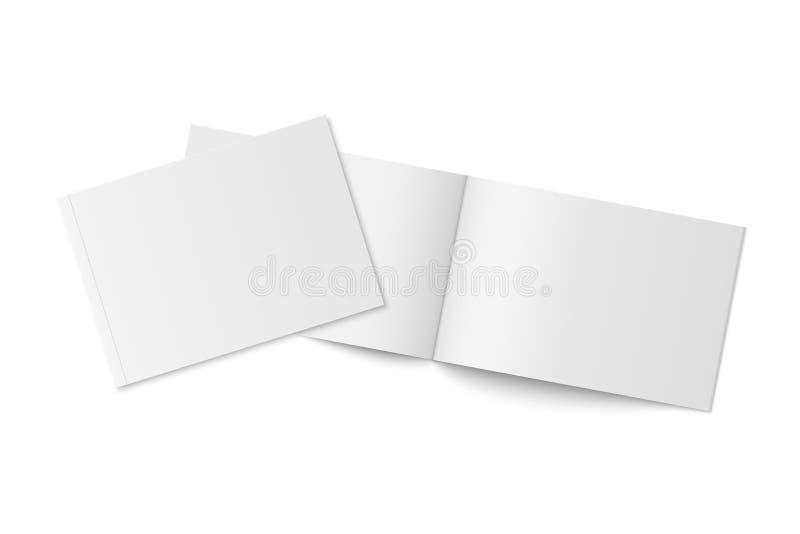 Mockup dwa cienkiej książki z miękką pokrywą odizolowywającą obraz stock
