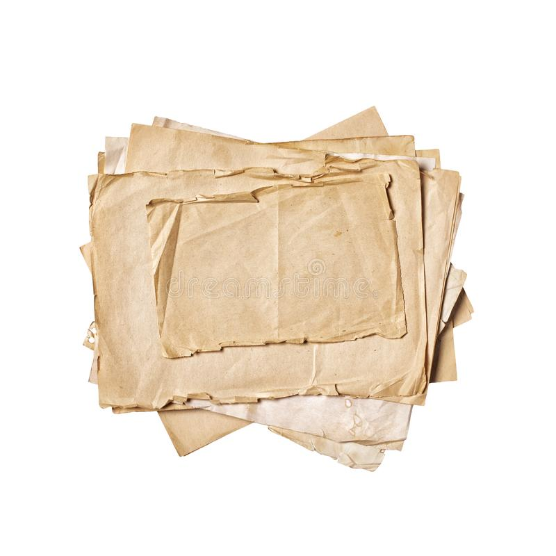 Mock Up Of Empty Old Vintage Paper Sheets Stock Image