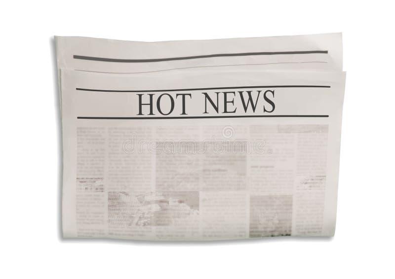 Mockup of Fake News en blanc avec espace textuel pour le texte, le titre et les images images libres de droits