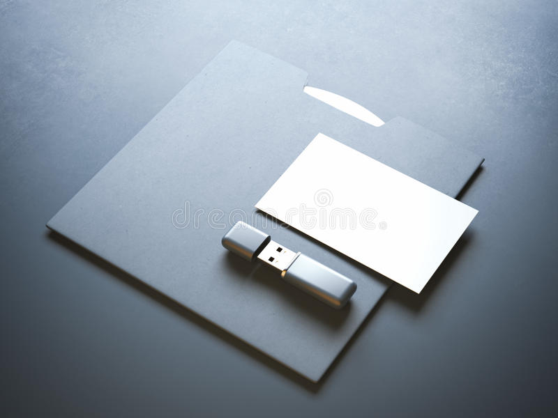 Mockup with flash drive stock image. Image of classic - 61424787