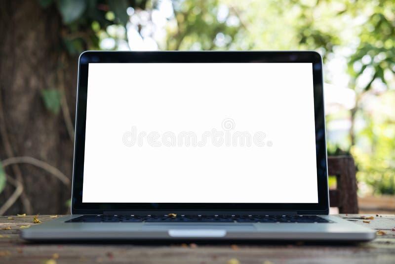 Mockup image of laptop stock photography