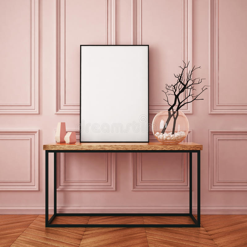Mockup interior in classic style stock images