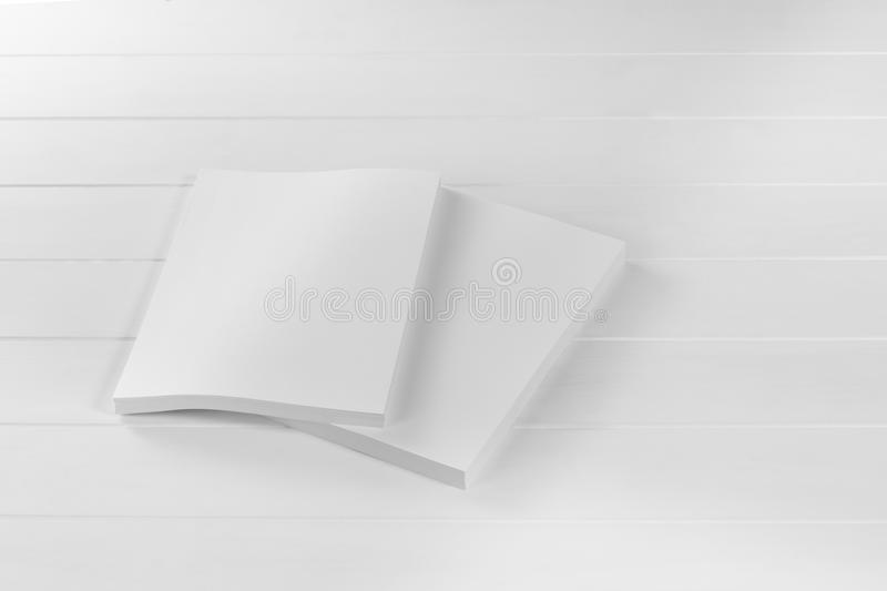 Mockup magazine, poster, brochure or flyer isolated on white background royalty free stock images