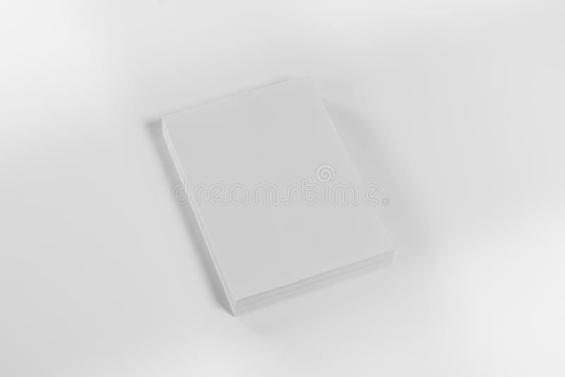 Mockup magazine, poster, brochure or flyer isolated on white background royalty free stock photo