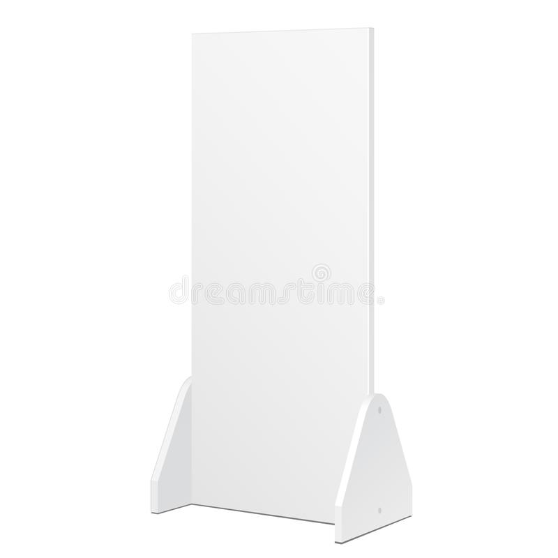 Mockup, Mock Up Simple Outdoor Indoor Stander Advertising Stand Banner Shield Display. Mock Up Products Isolated. stock illustration