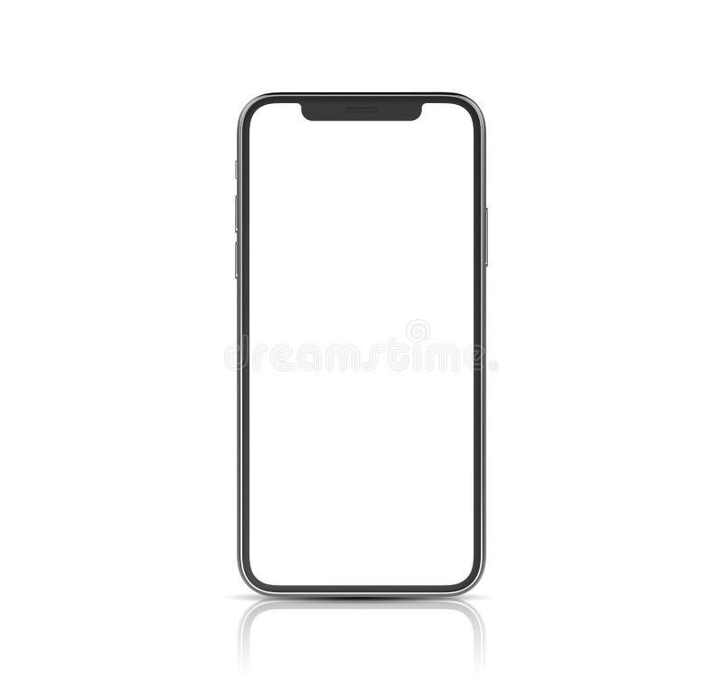 Mockup of a modern smartphone on a white backlground vector illustration