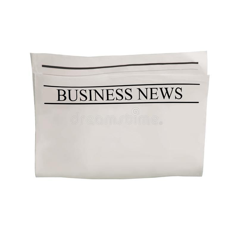 Free Mockup Of Business News Newspaper Blank With Empty Space For News Text, Headline And Images Royalty Free Stock Images - 153278319