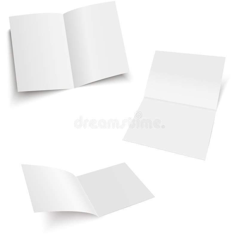 Mockup opened magazine, journal, booklet, postcard, flyer, business card or brochure . Vector Illustration. vector illustration