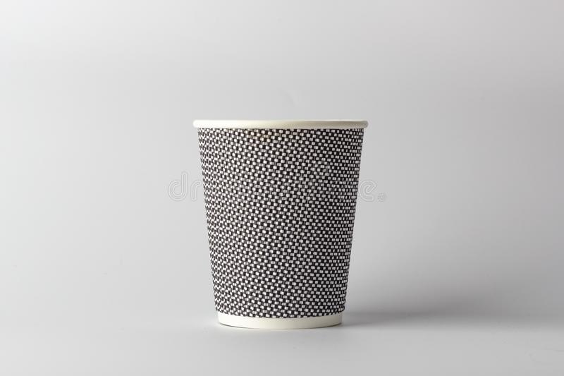 Mockup paper coffee cup on light gray background.  stock photos