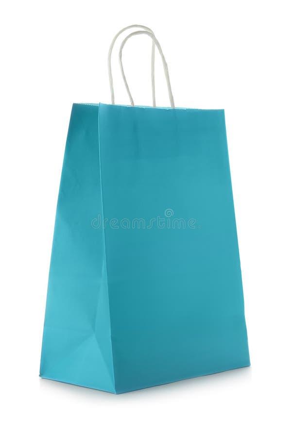 Mockup of paper shopping bag royalty free stock photo