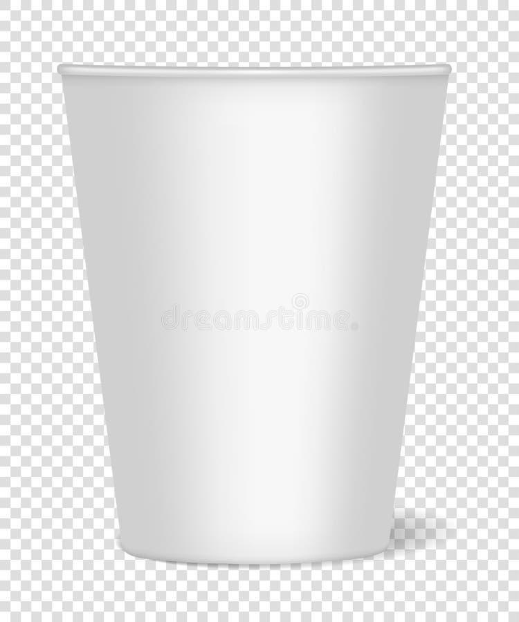 Mockup papierowa filiżanka z realistycznym cieniem dla kawy, herbata, napoje, woda na przejrzystym tle Mo?e u?ywa? jako szablon ilustracji