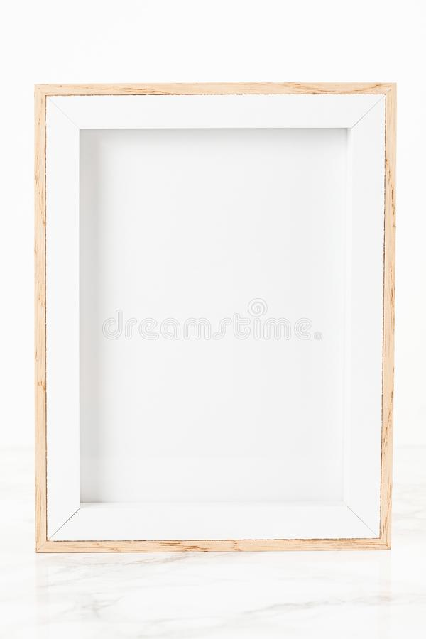 Mockup with picture frame. Copy space for text stock image