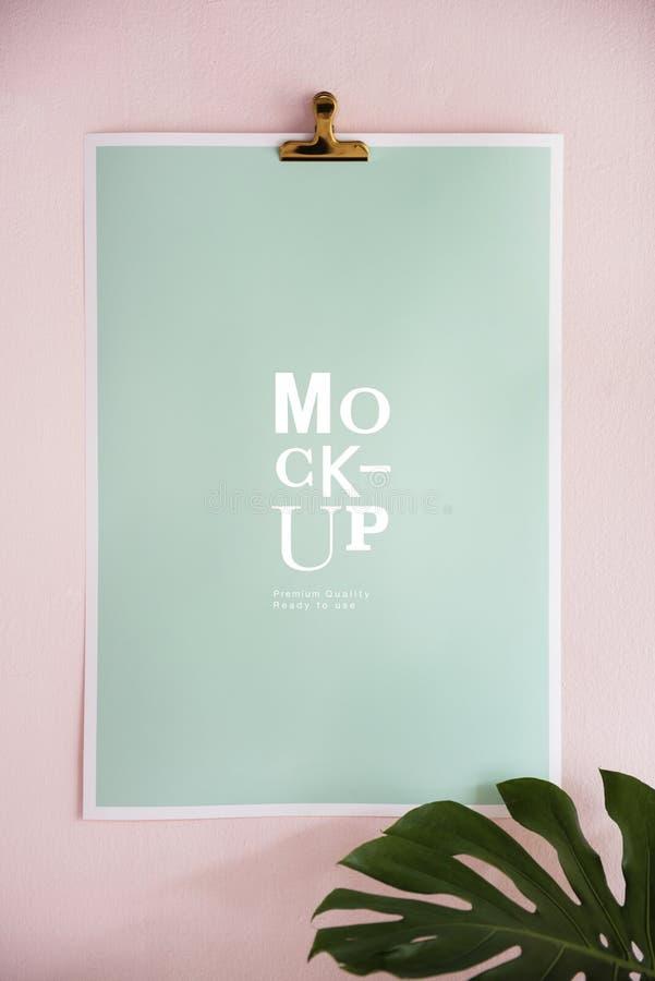 Mockup projekta przestrzeń na papierowej desce obraz royalty free