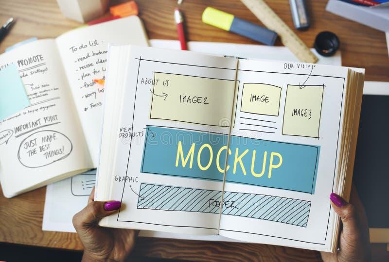 Mockup przedmiot Imituje Wzorcowego replika projekt Reprodukuje pojęcie fotografia stock