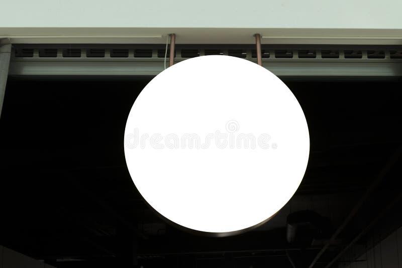 Signboard. Mock up. Round shape. Mockup signboard. Round shape mock up of shop royalty free stock photography