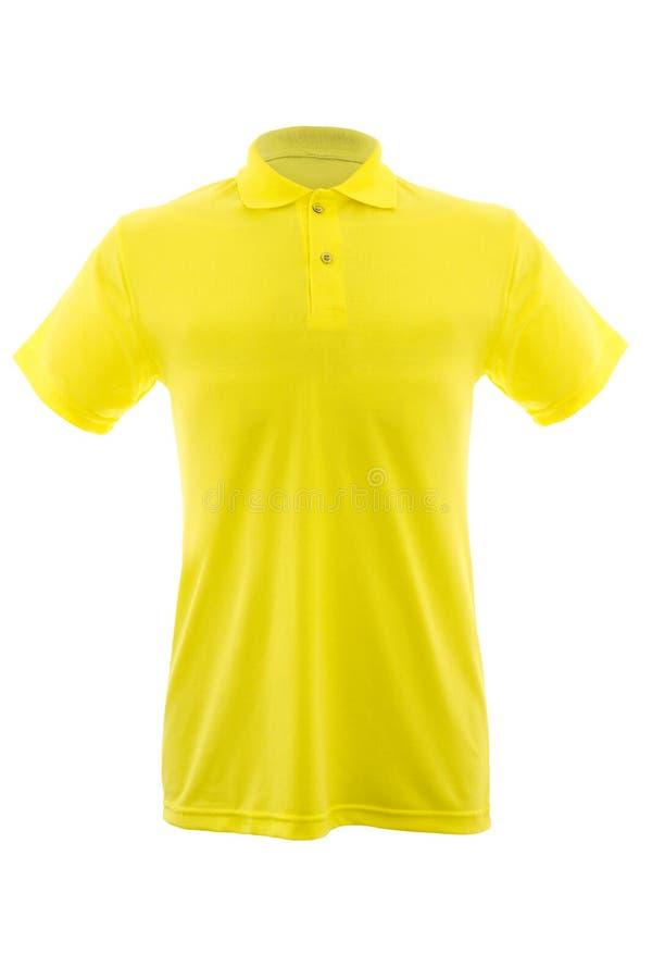 Mockup szablon mężczyzna koszulka na białym tle fotografia stock