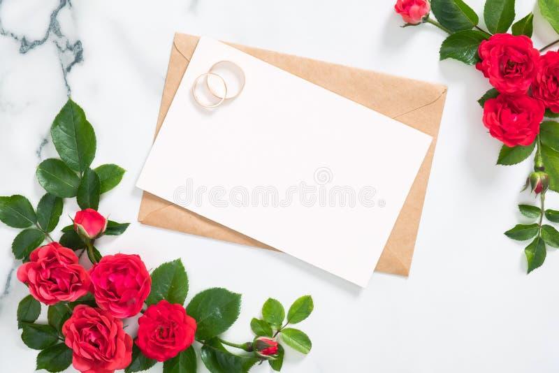 Blank Wedding Invitation Card Love Letter Stock Photos