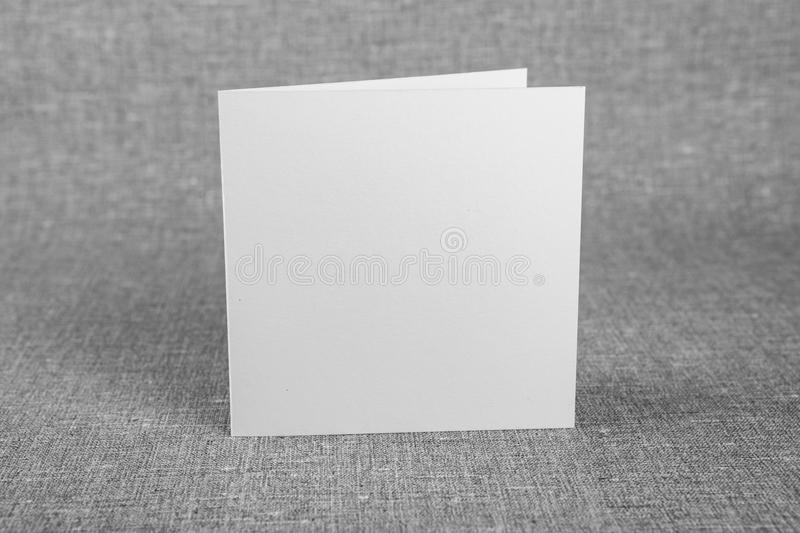 Mockup of white booklet on gray background. royalty free stock photos