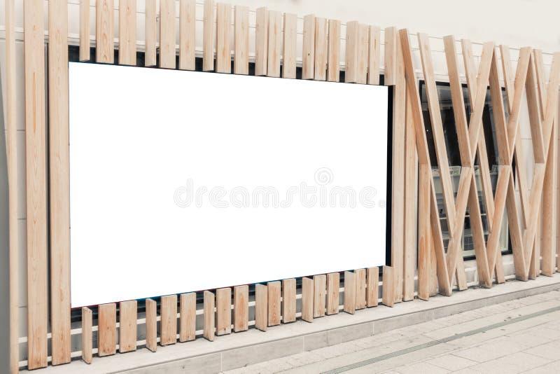 Mockup wizerunek Pusty billboard obrazy stock
