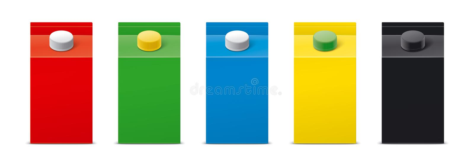 Mockups for packaging drinks. Version. stock photography