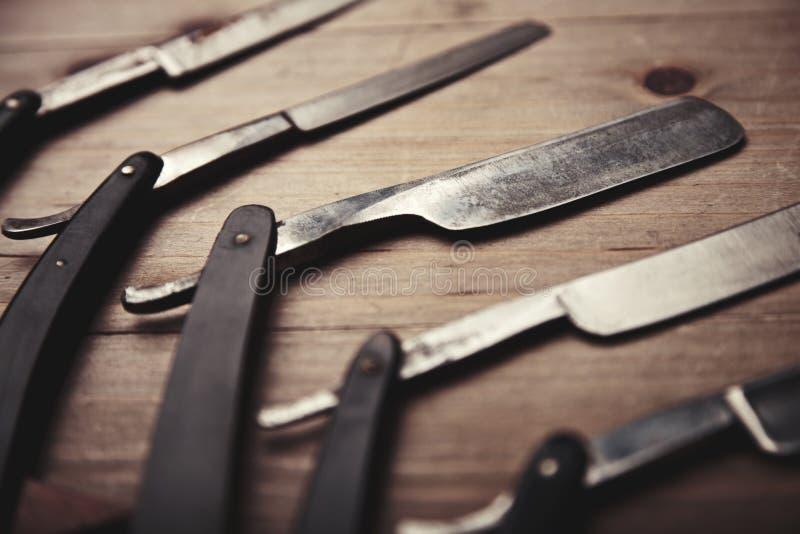 Mocup fryzjera męskiego sklepu narzędzia zdjęcie stock