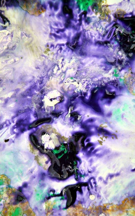 Moczy błękitnego purpurowego czerwonego mieszanka obrazu punktów tło, maluje i nawadnia, obrazy royalty free