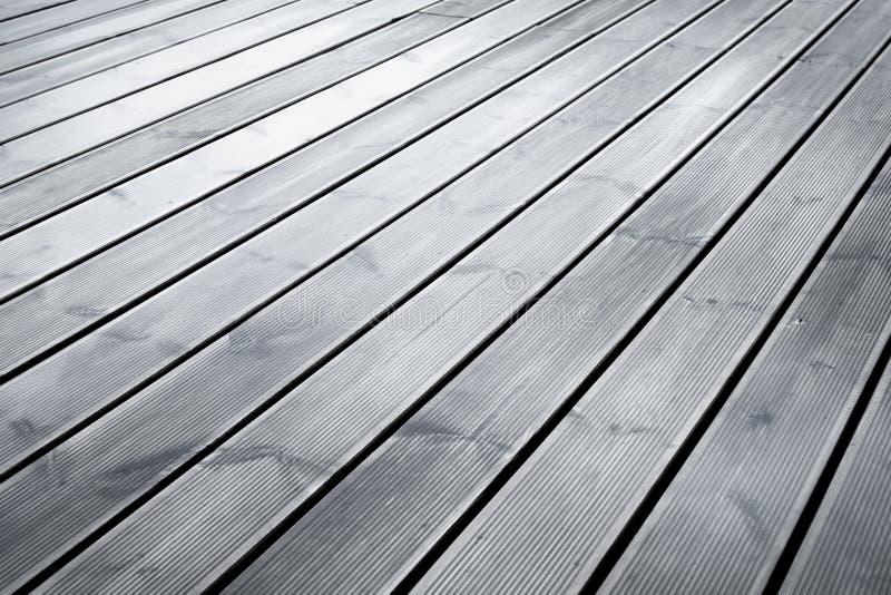 Moczy tarasowej drewnianej podłoga zdjęcie stock