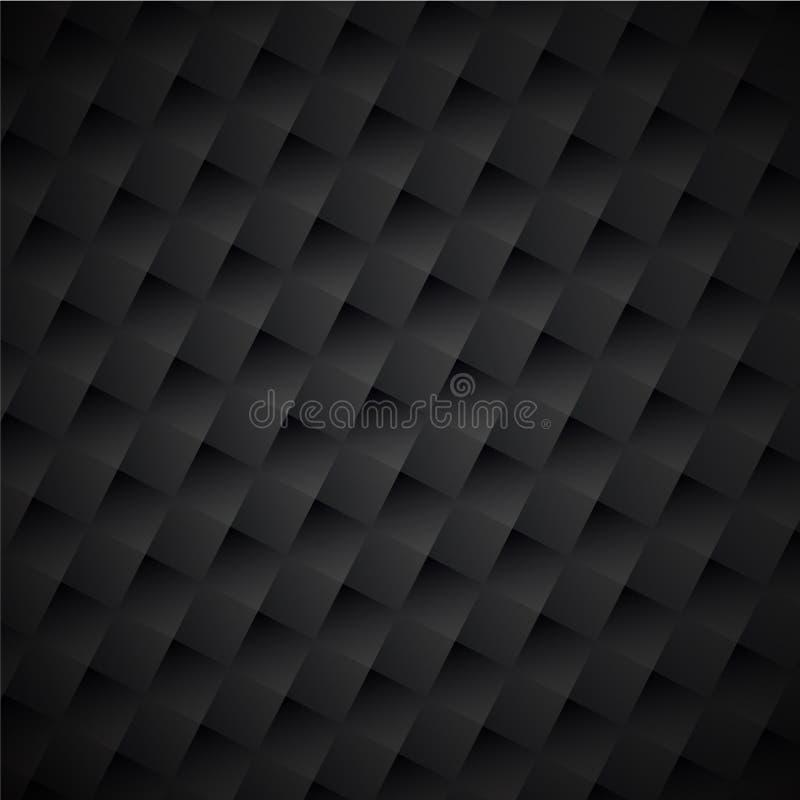Modèle à carreaux géométrique noir de texture abrégez le fond illustration stock