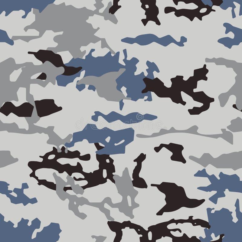 Modèle à la mode de camouflage, vecteur sans couture Copie de Millatry la texture des vêtements, le déguisement d'un chasseur illustration libre de droits
