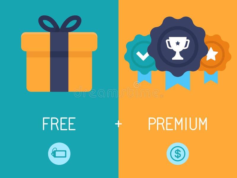 Modèle économique de Freemium illustration stock