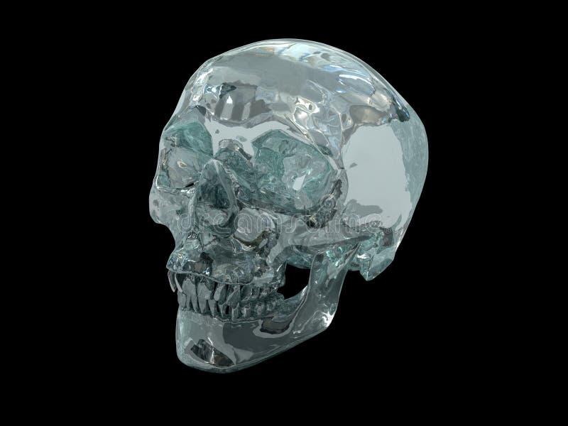 modèle 3D d'un crâne en cristal humain illustration de vecteur