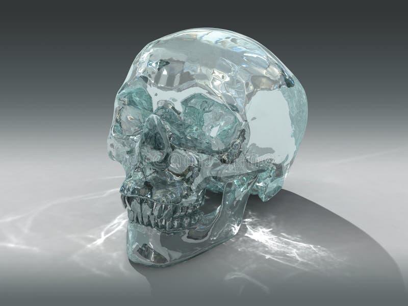 modèle 3D d'un crâne en cristal humain illustration libre de droits