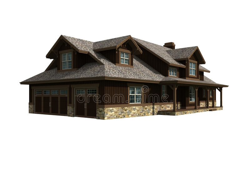 modèle 3d d'une maison de niveau illustration stock