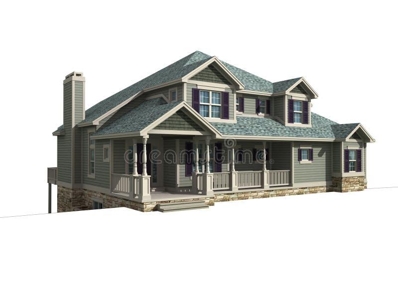 modèle 3d d'une maison de niveau illustration de vecteur
