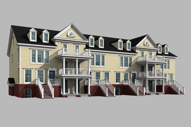 modèle 3d de condominium photographie stock libre de droits