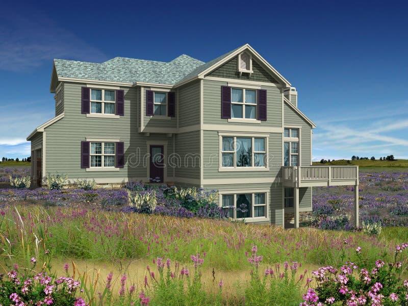 modèle 3d de maison à deux niveaux photos libres de droits