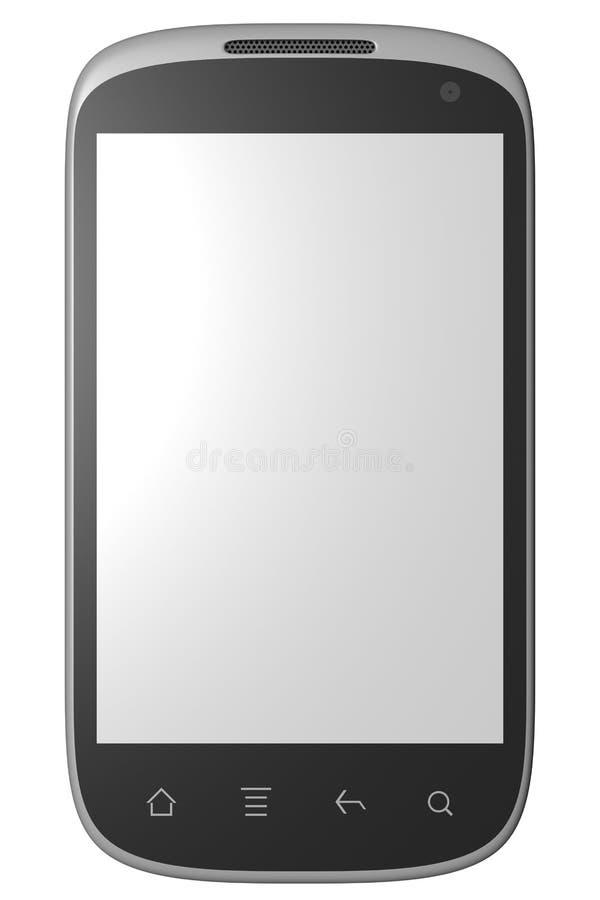 modèle 3d de téléphone intelligent d'isolement sur le blanc illustration stock