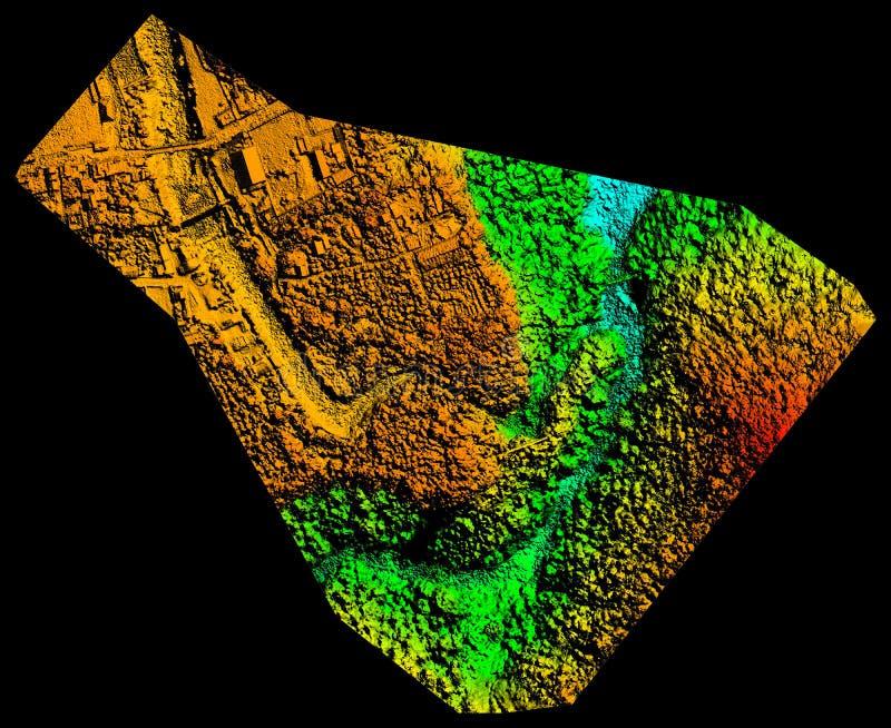 Modèle aérien de haute résolution d'altitude de Digital image stock